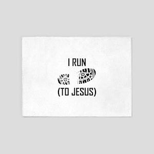I Run To Jesus 5'x7'Area Rug