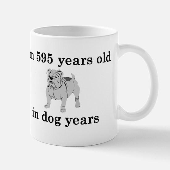 85 birthday dog years bulldog 2 Mugs