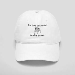85 birthday dog years bulldog 2 Baseball Cap
