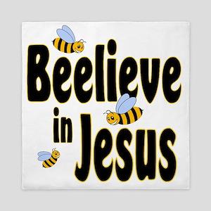 Beelieve in Jesus Black Queen Duvet