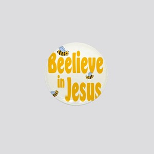 Beelieve in Jesus Mini Button