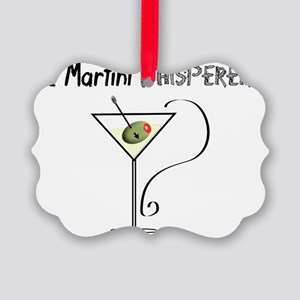 The Martini Whisperer Picture Ornament