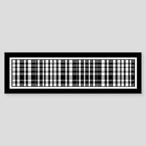 Black and White Plaid Bumper Sticker