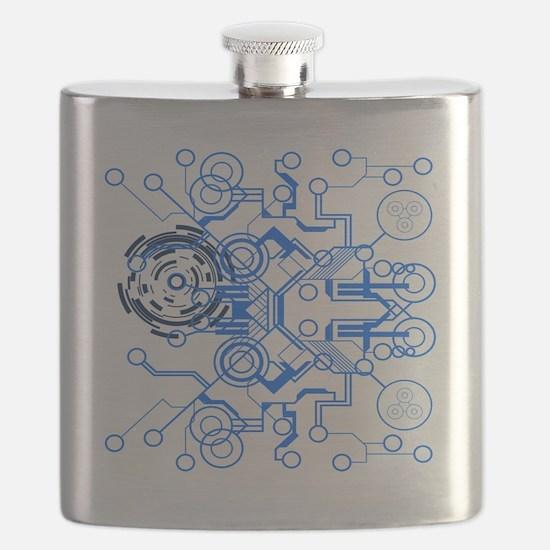 lightblue circuitboard flowchart Flask