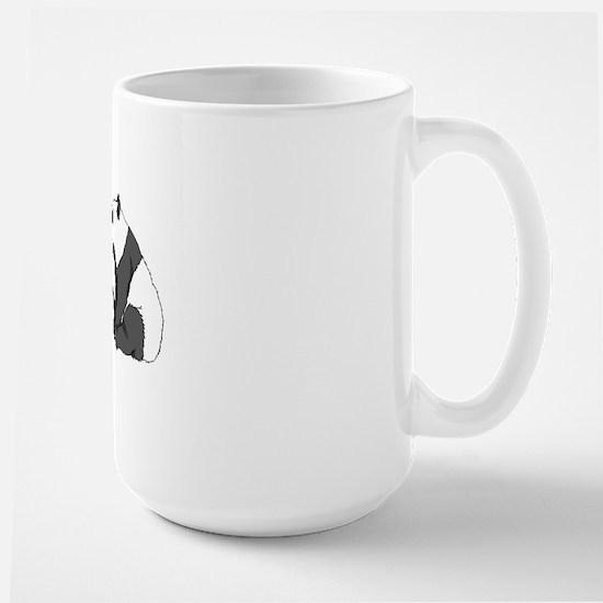 Panda post Card Large Mug