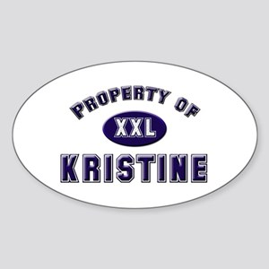 Property of kristine Oval Sticker