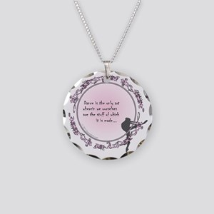 dance is the only art t-shir Necklace Circle Charm