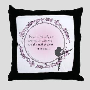 dance is the only art t-shirt copy Throw Pillow
