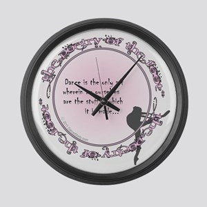 dance is the only art t-shirt cop Large Wall Clock