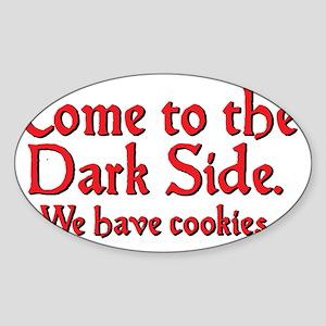 darkside_btle2 Sticker (Oval)