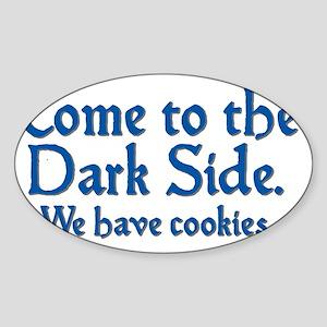 darkside_btle1 Sticker (Oval)