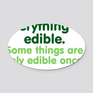 edible_rect2 Oval Car Magnet
