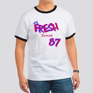 fresh87 Pink/Purple Ringer T