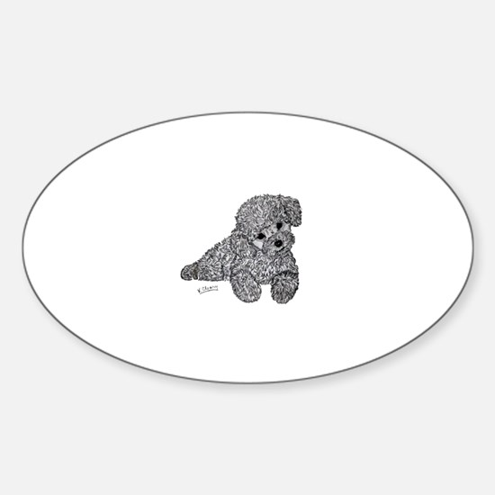 Poodle puppy Decal