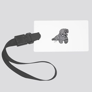 Poodle puppy Luggage Tag