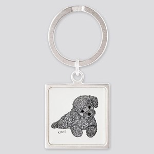 Poodle puppy Keychains
