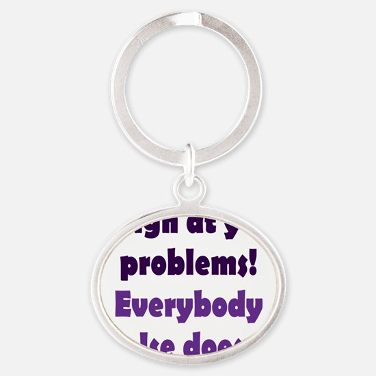 laugh2 Oval Keychain