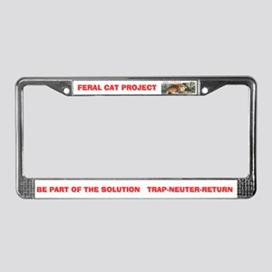 Feral Cat Project License Plate Frame