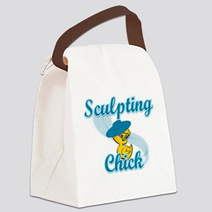 Sculpting Chick #3 Canvas Lunch Bag