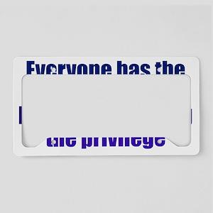 rightstupid_btle1 License Plate Holder