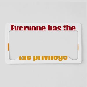 rightstupid_btle2 License Plate Holder
