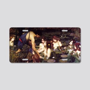 Hylas and the Nymphs Aluminum License Plate