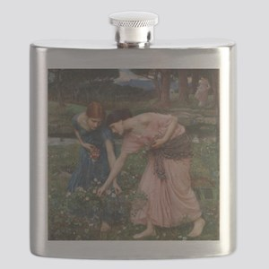 Gather Ye Rosebuds While Ye May Flask