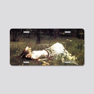 Ophelia Lying in the Meadow Aluminum License Plate
