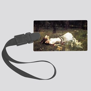 Ophelia Lying in the Meadow Large Luggage Tag