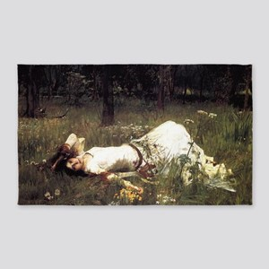 Ophelia Lying in the Meadow 3'x5' Area Rug