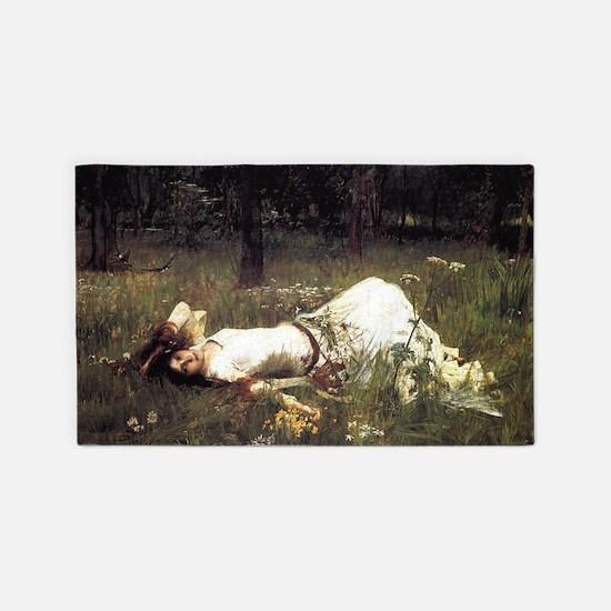 Ophelia Lying in the Meadow 3'x5' Area Rug