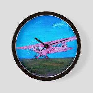 Pink Piper Cub Wall Clock