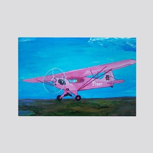 Pink Piper Cub Rectangle Magnet