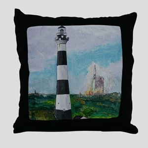 Two Beacons - Cape Canaveral Light Throw Pillow