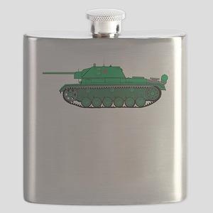 Green Army Tank Flask