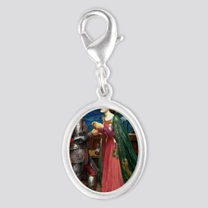 Tristan and Isolde Silver Oval Charm