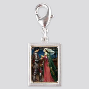 Tristan and Isolde Silver Portrait Charm