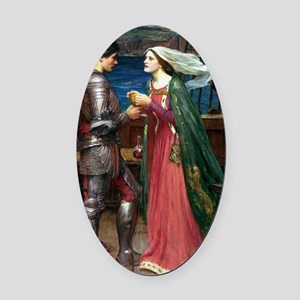 Tristan and Isolde Oval Car Magnet