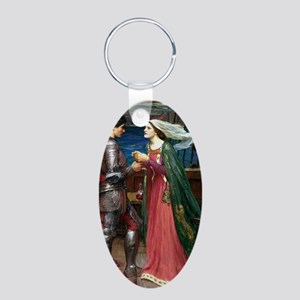Tristan and Isolde Aluminum Oval Keychain
