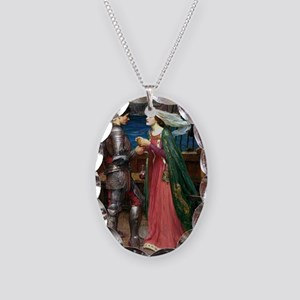 Tristan and Isolde Necklace Oval Charm