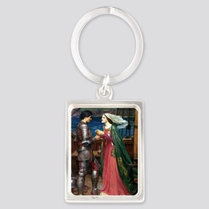 Tristan and Isolde Portrait Keychain