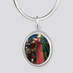 Tristan and Isolde Silver Oval Necklace