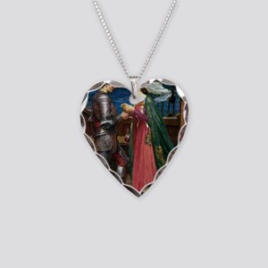Tristan and Isolde Necklace Heart Charm