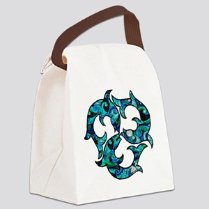 SwirlMouse Canvas Lunch Bag