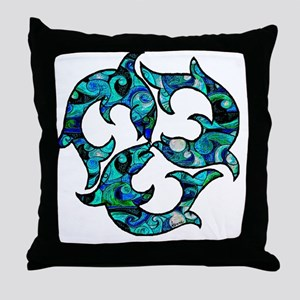 SwirlMouse Throw Pillow
