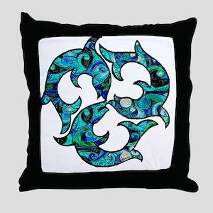 SwirlMouse Throw Pillow
