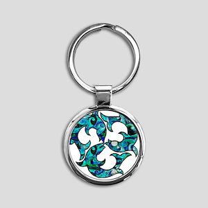 SwirlMouse Round Keychain