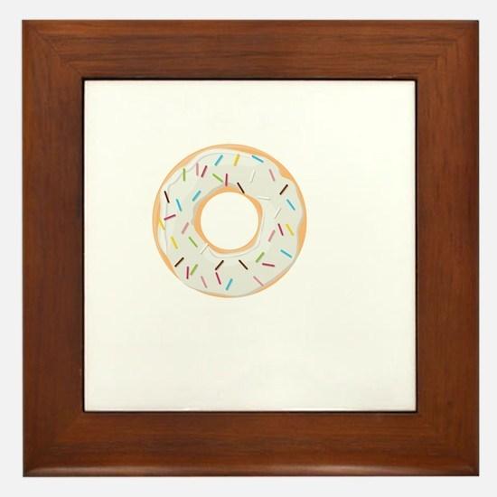 Donuts Framed Tile