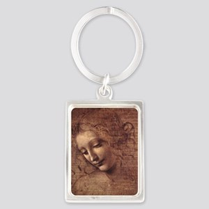 Female Head Portrait Keychain