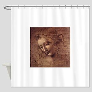 Female Head Shower Curtain